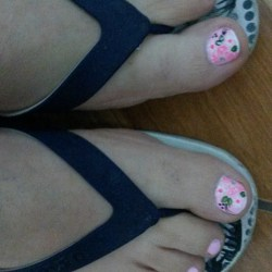 My painted toes