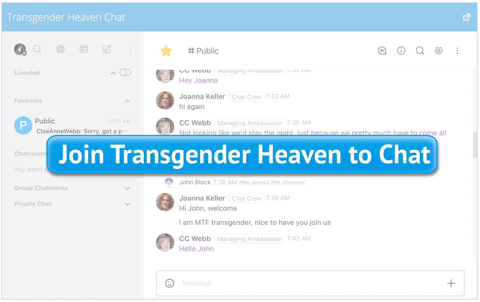 Join Transgender Heaven